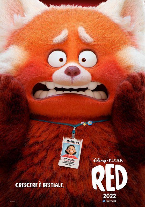 red film pixar poster