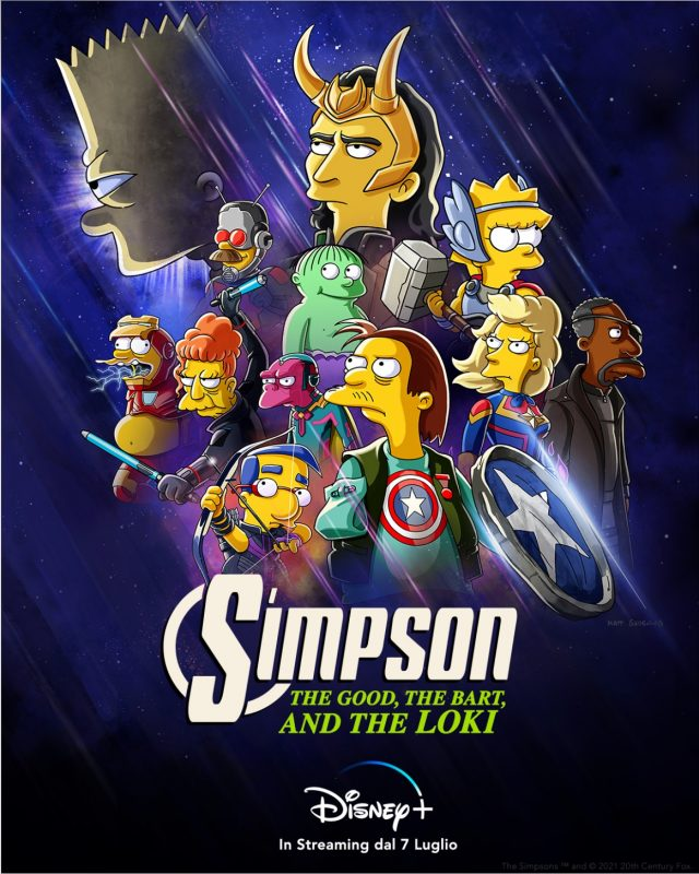 i simpson - the good, the bart and the loki poster
