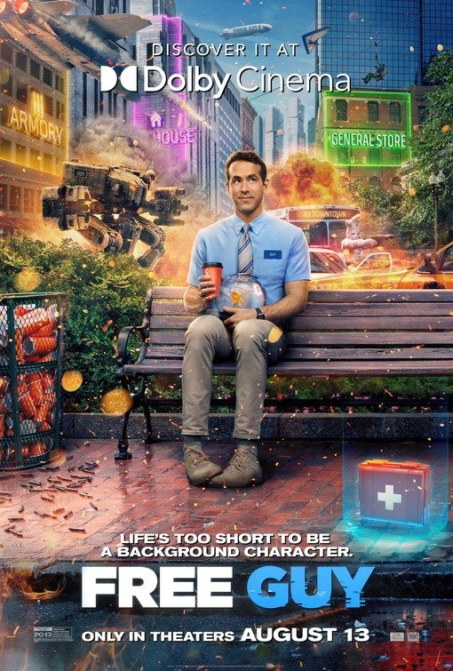 Gli esclusivi poster IMAX e Dolby Cinema di Free Guy - Eroe per Gioco